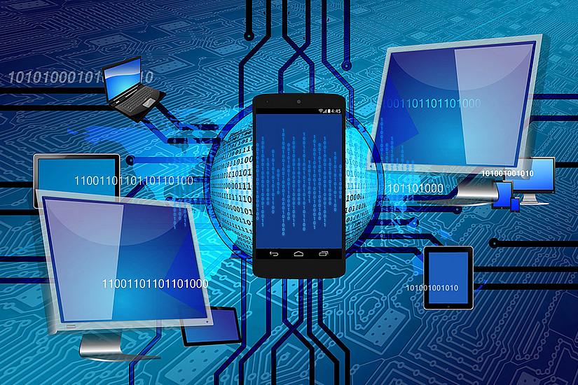 """Wie beeinflusst die Technologie die Arbeit, das Studium, den Alltag? Antworten darauf bietet der kostenlose Online-Kurs """"Elements of AI"""". Foto: Gerd Altmann - Pixabay"""