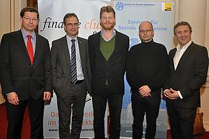 Diskussion übers Geld: Storr, Riedler, Felber, Ungericht und Ferz (v.l.)