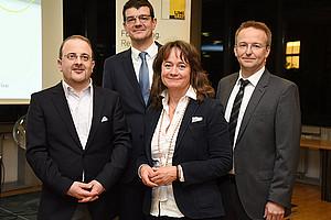 V.l.: Markus Kastelitz, Martin Leiter, Judith Leschanz und Christian Bergauer. Foto: Uni Graz/Pichler