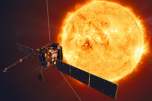 Künstlerische Darstellung der ESA-Raumsonde Solar Orbiter.  Foto: © ESA/ATG medialab