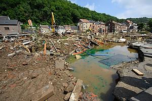 Unwetter, wie hier in Belgien im Juli 2021, sind Resultate des fortschreitenden Klimawandels. Foto: © EU/Christophe Licoppe via Wikipedia