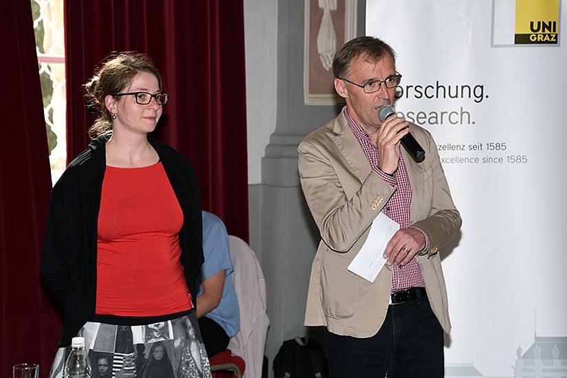 Moderierten die Veranstaltung: Claudia Stöckl von der Koordinationsstelle Alter(n) der Uni Graz und Peter Rudlof, Lehrender an der FH Joanneum im Studium Soziale Arbeit