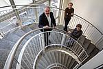 Pionierarbeit in der Physik: Gerald Kothleitner, Ulrich Hohenester und Georg Haberfehlner (v. l.) Foto: Lunghammer - TU Graz
