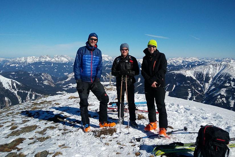 Sportlich unterwegs - Joachim Krenn, Ulrich Hohenester und Christof Gattringer (Foto: Moritz Flor)