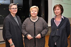 Vizerektorin Renate Dworczak, Gastvortragende Ulrike Felt und Barbara Hey, Leiterin der Koordinationsstelle (v.l.)
