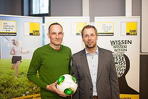 Konditionstrainer Stefan Arvay und Wissenschafter Gerhard Tschakert über die Zukunft des Sports Foto: Grumet