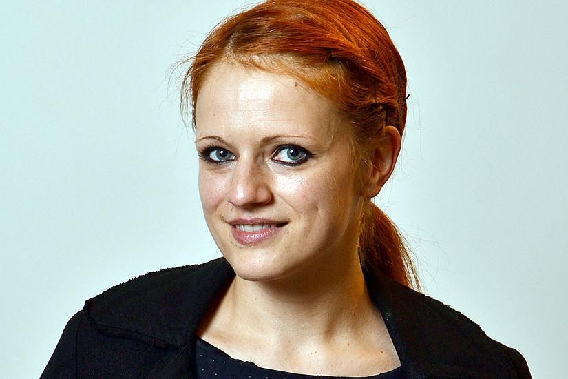 Ylva Schwinghammer macht SchülerInnen die deutsche Sprache schmackhaft. Sie erhielt nun das erste Bridge-Stipendium des Habilitationsforums Fachdidaktik und Unterrichtsforschung. Foto: Uni Graz