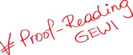 Kriterien Proof-Reading GEWI