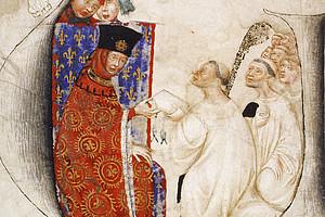1402-12-02: Abt Lubertus (Hautscilt) und der Konvent von Saint-Barthélemy in Brügge nehmen Jean de Duc de Berry als ihren Mitbruder auf 2 Dezember 1402, Paris, Archives nationales