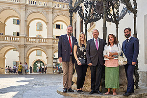 Karl Habsburg-Lothringen (Blue-Shield International), Eva Klein (Universität Graz), Günter Nebel (Sponsor), Margit Stadlober (Universität Graz) und Friedrich Schipper (Universität Wien). Fotos: Ester Wendt.