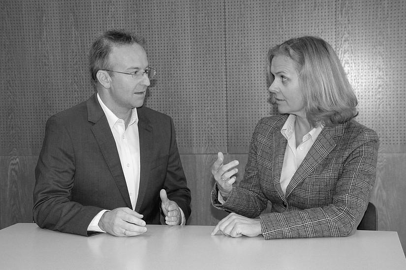 Univ.-Prof.in Dr.in Elisabeth Staudegger und Assoz. Prof. Dr. Christian Bergauer