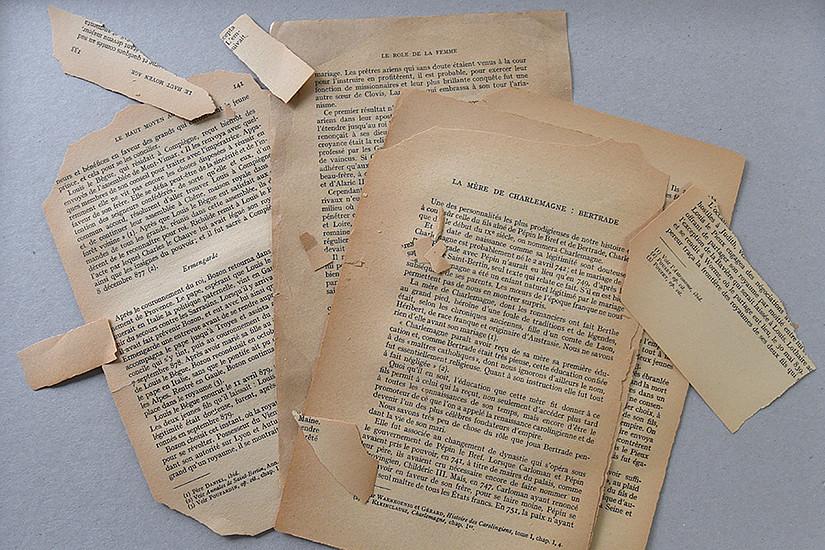 Ein durch Säureabbau beschädigtes Buch: Ein nanotechnologisches Verfahren der Uni Graz kann wertvolle Kulturgüter retten. Foto: Uni Graz/Schweiger