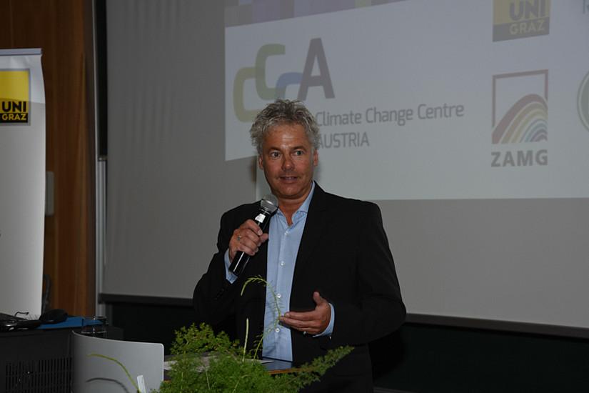 Einführende Worte von Ingmar Höbarth, der Geschäftsführer des Klima- und Energiefonds.
