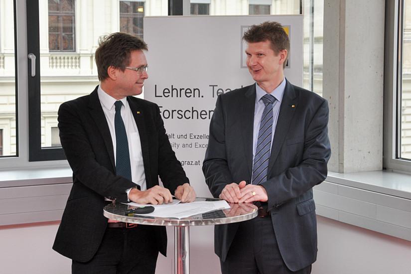Martin Polaschek und Akademie-Leiter Michael Kopp begrüßten.
