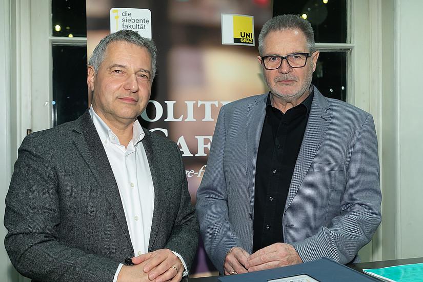 Gastgeber Markus Steppan (links) mit Josef Mock (Foto: Markus Steppan/ Oliver Wolf)