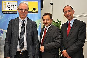 Finanzwissenschafter Richard Sturn, Betriebswirt Alfred Gutschelhofer sowie Politikwissenschafter Peter Filzmaier (v.l.)