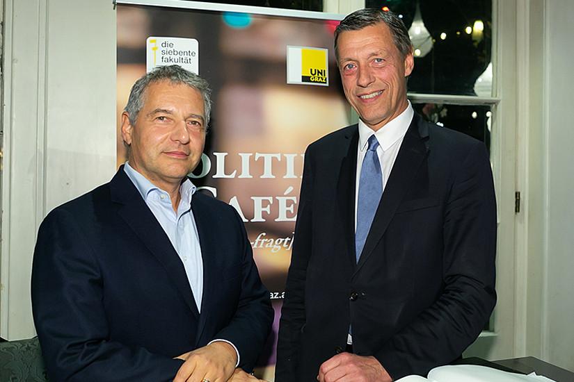 Rechtswissenschafter Markus Steppan (links) und Generalsekretär Christian Pilnacek. Foto: Wolf