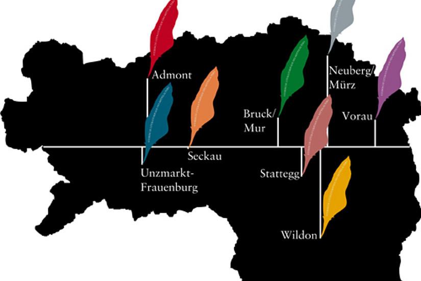 Der erste Literaturpfad wird am 5. August 2012 in Neuberg an der Mürz eröffnet.
