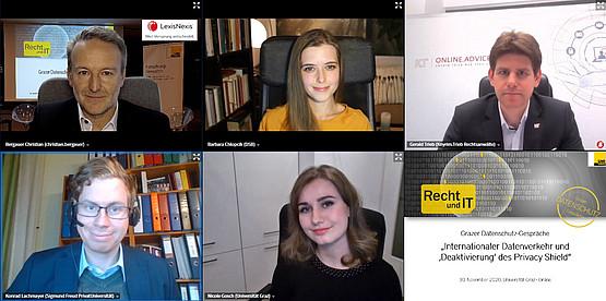 Christian Bergauer, Barbara Chlopcik, Gerald Trieb, Konrad Lachmayer, Nicole Gosch. Foto: C. Bergauer