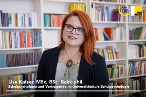 Schulpsychologie UNI for LIFE Interview mit Schulpsychologin Lisa Kaiser