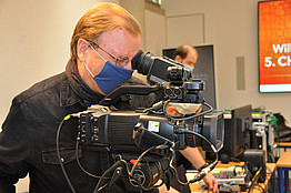 Kamermann beim Filmen