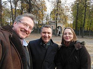 In Riga: Link, Ferz, Sonnleitner - Foto: Link