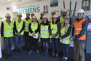 Exkursion, Betriebsbesichtigung, Siemens, Gruppe