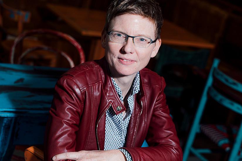 """Gunda Werner: """"Für mich ist es wichtig, das Leben zu wagen, die Komfortzone zu verlassen"""". Foto: Uni Graz/Kanizaj"""