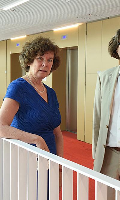 Rektorin Schücking und Rektor Polaschek