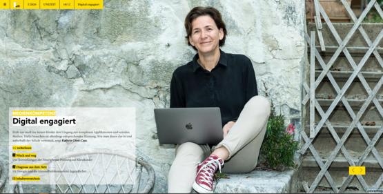 Kathrin Otrel-Cass lehrt den kompetenten Umgang im Netz. Foto: Christa Strobl