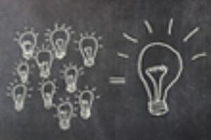 Glühbirne als Zeichen für Idee