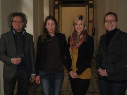 Dr. Stephan Moebius, Dr. Angela Pilch-Ortega, Dr. Eva Klein und MMag. Alexandra Dorfer (von li. nach re.)