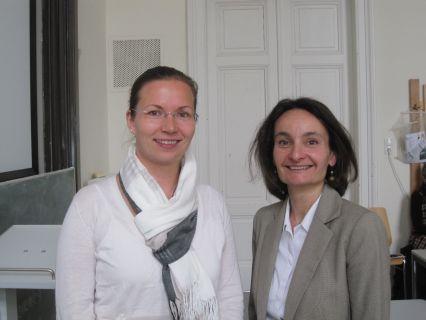 MMag. Alexandra Dorfer-Novak (li.) und Mag. Sabine Pendl (re.)