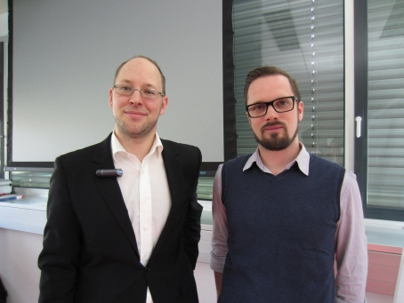 Dr. Peter Slepcheviz-Zach (li) und Mag. Dietbert Apfelknab (re)