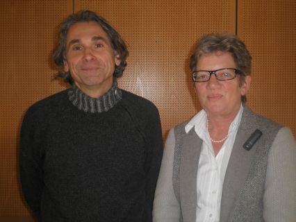 Dr. Rudolf Egger (li.) und Dr. Andrea Frank (re.)
