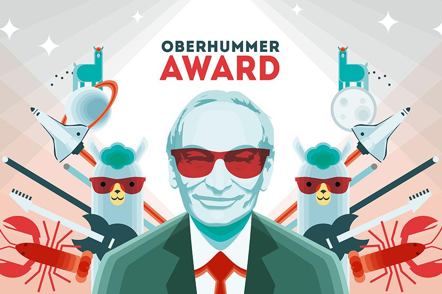 Heinz Oberhummer, Absolvent der Universität Graz, war Physiker, Lehrer, Aufklärer, Autor populärwissenschaftlicher Bücher, Kabarettist und Science Buster. Grafik: Büro Alba