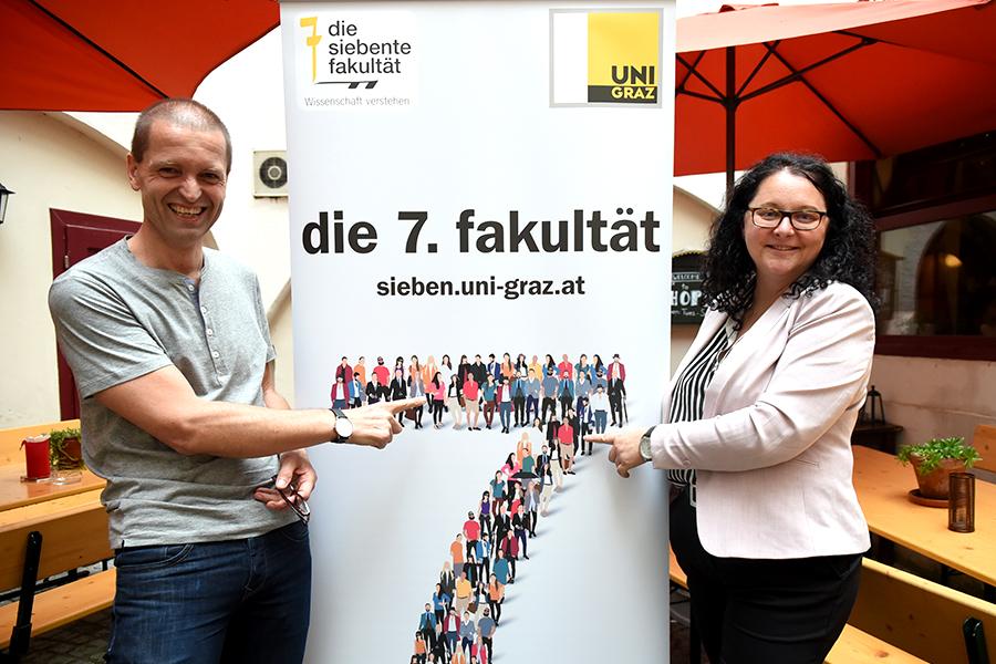 Christof Gattringer und Andrea Penz luden ins Grazer Innenstadt-Pub.