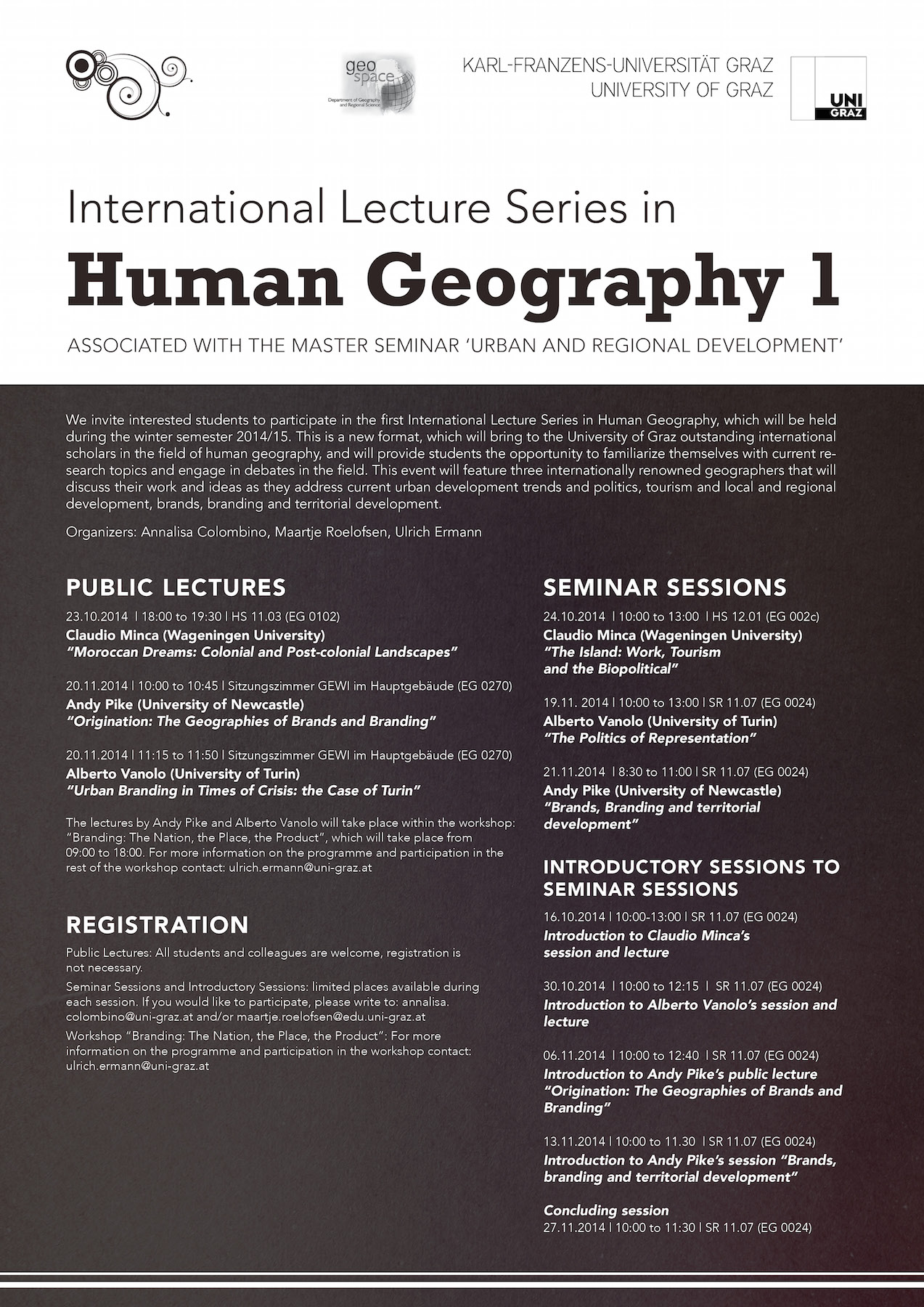 International Lecture Series in Human Geography 1