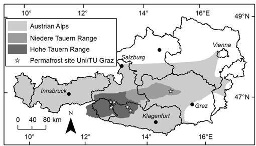 Hohe Tauern Karte.Permafrostmonitoring In Den Hohen Und Niederen Tauern Institut Für