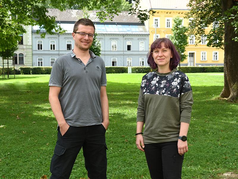 Die PsychologInnen Hilmar Brohmer und Gabriela Hofer waren seitens der Uni Graz an der Studie beteiligt. Foto: Uni Graz/Schweiger.